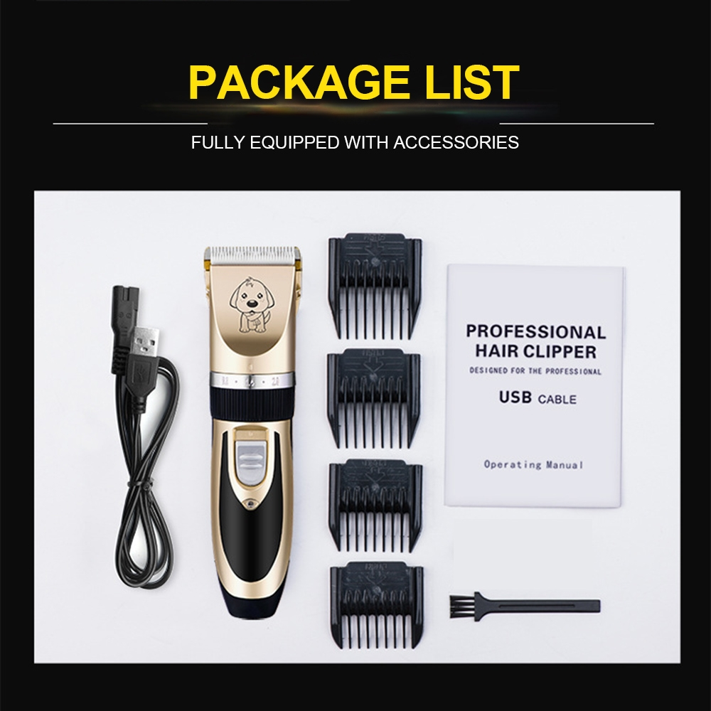 Pet-Dog-Cat-Nail-Hair-Trimmer-Grooming-Tool-Care-Grinder-Electric-Clipper-Kit